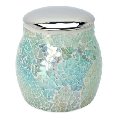 India Ink Aurora Cracked Glass Covered Jar