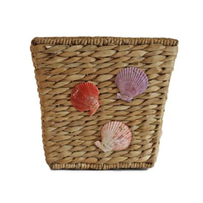 Barbac Rectangular Wastebasket with Starfish Trim Wastebaskets