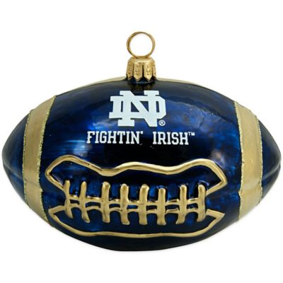 University of Notre Dame Football Christmas Ornament