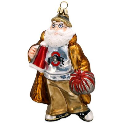 Joy to the World Collectibles Ohio State University Coated Santa Christmas Ornament