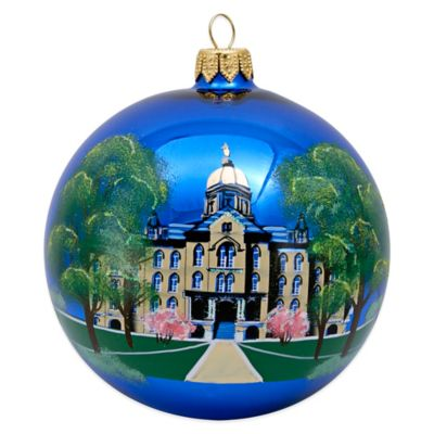 Joy to the World Collectibles University of Notre Dame Round Christmas Ornament