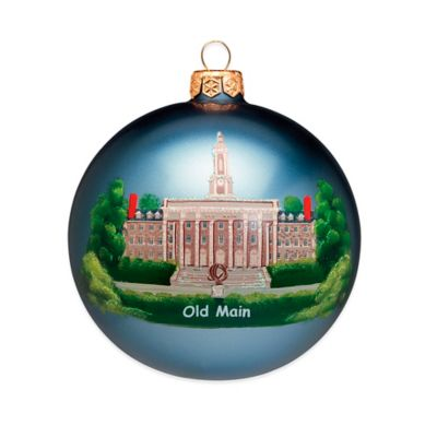Joy to the World Collectibles Penn State University Round Christmas Ornament