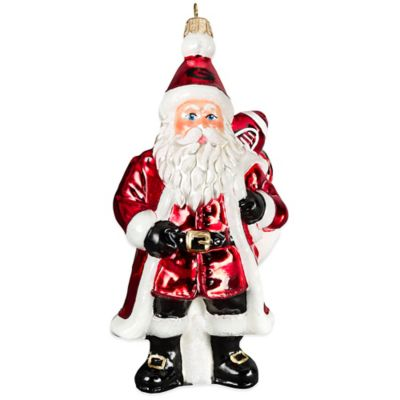 University of Georgia Santa Christmas Ornament