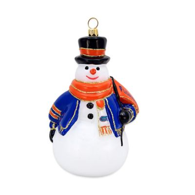 University of Florida Snowman Christmas Ornament