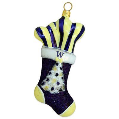 University of Washington Stocking Christmas Ornament