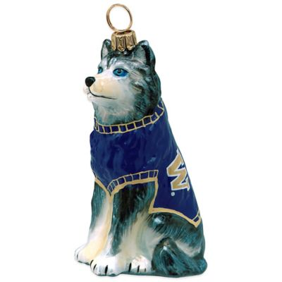 Joy to the World Collectibles University of Washington Husky Christmas Ornament