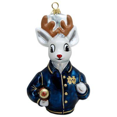University of Notre Dame Varsity Reindeer Christmas Ornament