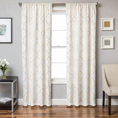 Monza 63-Inch Window Curtain Panel in Yellow/Grey