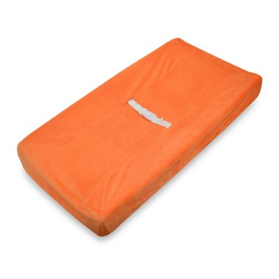 TL Care® Mix & Match Heavenly Soft Chenille Contoured Changing Pad Cover in Orange