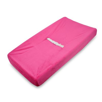 TL Care® Mix & Match Heavenly Soft Chenille Contoured Changing Pad Cover in Hot Pink