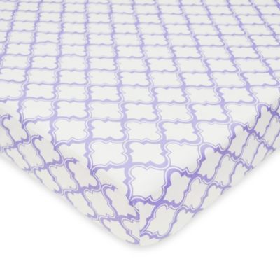 TL Care® Mix & Match Cotton Percale Fitted Crib Sheet in Lavender Moroccan