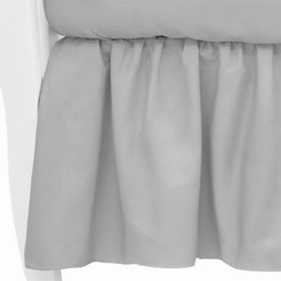 TL Care® Mix & Match Cotton Percale Crib Skirt in Grey
