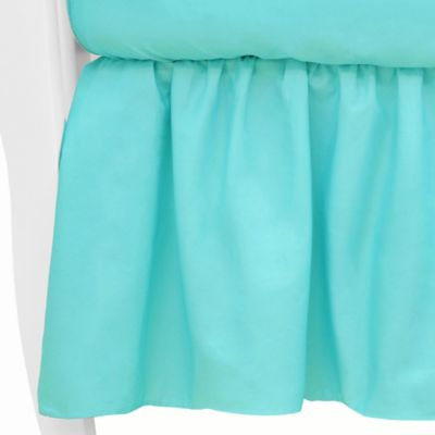 TL Care® Mix & Match Cotton Percale Crib Skirt in Aqua