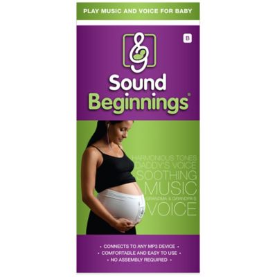 Sound Beginnings™ Prenatal Size B Sounds Delivery System in White