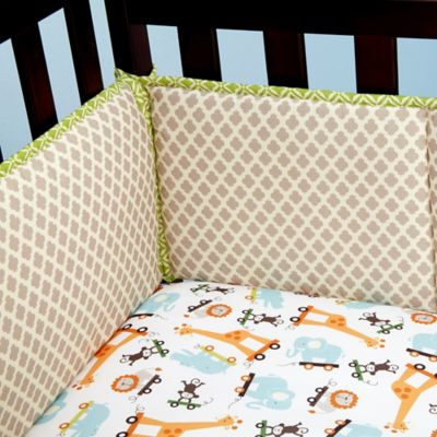 Little Bedding by NoJo® Critter Pals 4-Piece Crib Bumper