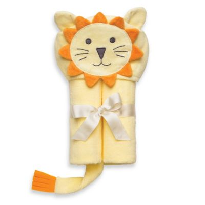 Elegant Baby® Lion Bath Wrap in Yellow