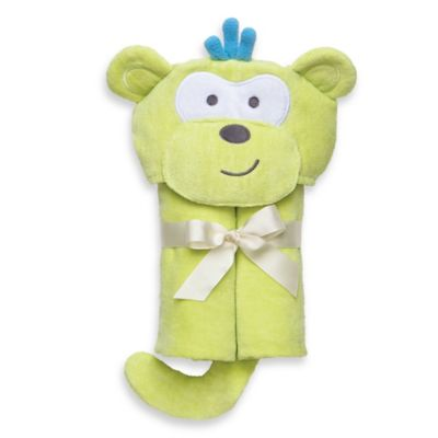 Elegant Baby® Monkey Bath Wrap in Green