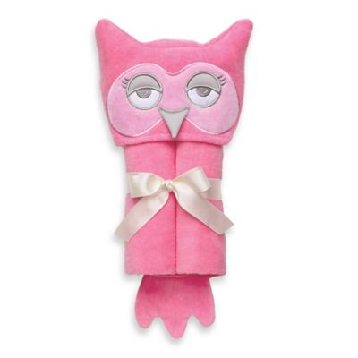 Elegant Baby® Owl Bath Wrap in Pink