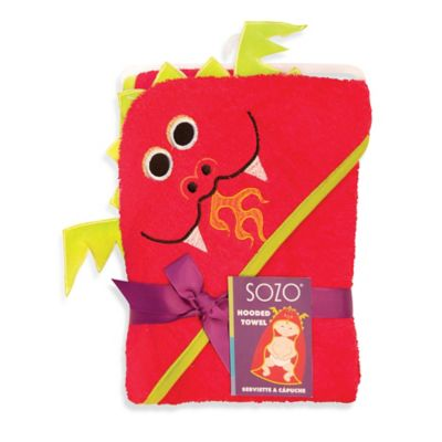 Sozo® Dragon Hooded Towel in Red