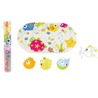 Kushies Marine Bath Mat and Squirter Set