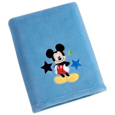 Disney® Mickey Solid Applique Fleece Blanket