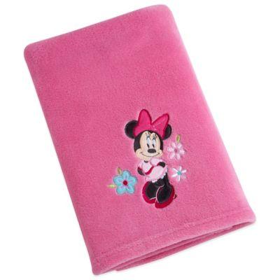 Disney® Minnie Solid Applique Fleece Blanket