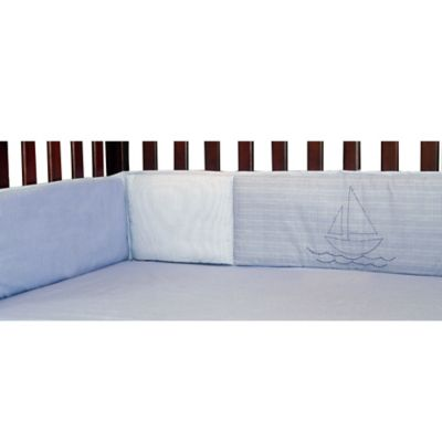 New Country Home Laugh, Giggle & Smile Sailing Days 4-Piece Crib Bumper
