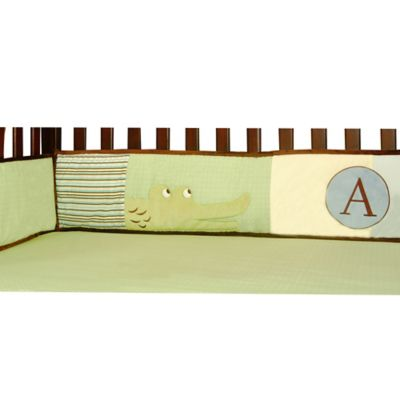 New Country Home Laugh, Giggle & Smile ABC Animal Friends 4-Piece Crib Bumper