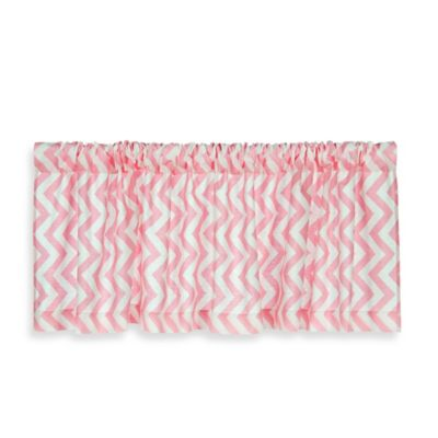 Pink Grey Window Valance