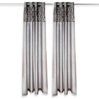 Glenna Jean Swizzle 84-Inch Window Panels in Grey (Set of 2)