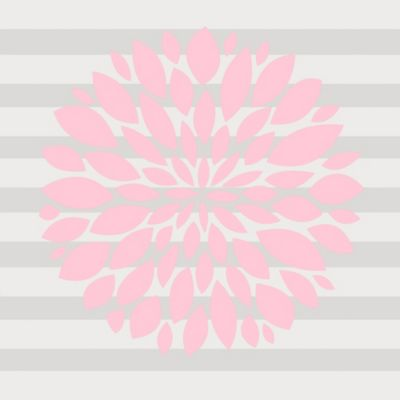 Glenna Jean Swizzle Flower Wall Decal in Pink