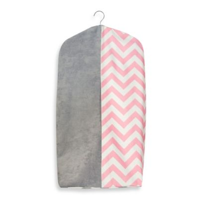 Glenna Jean Swizzle Diaper Stacker in Pink/Grey