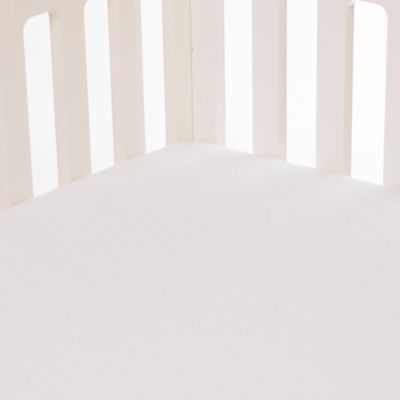 Glenna Jean Swizzle Softee Fitted Crib Sheet in White