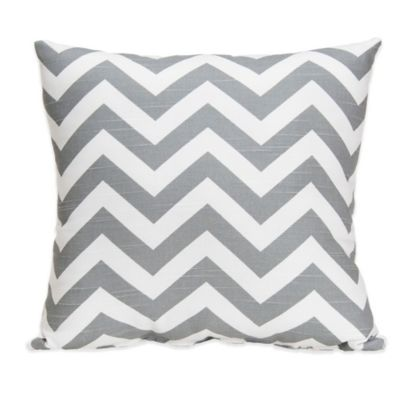 Glenna Jean Swizzle Square Throw Pillow in Grey Chevron