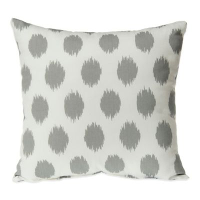 Glenna Jean Swizzle Square Throw Pillow in Grey Dot