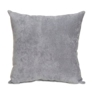 Glenna Jean Swizzle Velvet Throw Pillow in Grey