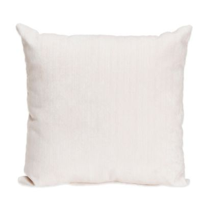 Glenna Jean Swizzle Velvet Throw Pillow in White