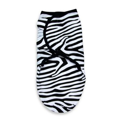 SwaddleMe® Size Small/Medium Cotton Swaddle in Zebra