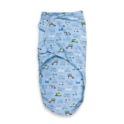SwaddleMe® Size Small/Medium Cotton Swaddle in Tuff Trucks