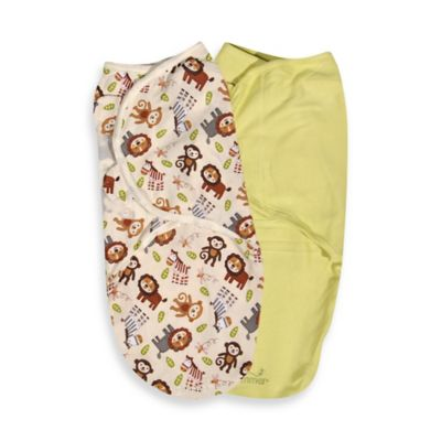 SwaddleMe® Size Small/Medium Cotton 2-Pack in Jungle Hunnies