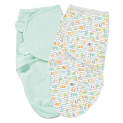 Summer Infant® Size Large Cotton 2-Pack SwaddleMe® in Alphabet Soup