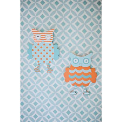 My Baby Sam Penny Lane Owl Wall Art (Set of 2)