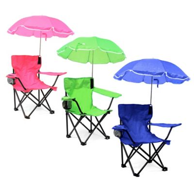 W.C. Redmon Kids' Camp Chair with Umbrella in Green