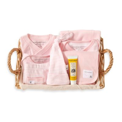 Burt's Bees Baby® Size 0-3M 9-Piece Take Me Home Gift Basket in Blossom
