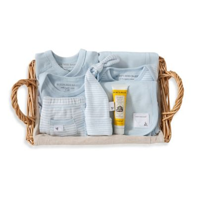 Burt's Bees Baby® Size 0-3M 9-Piece Take Me Home Gift Basket in Sky