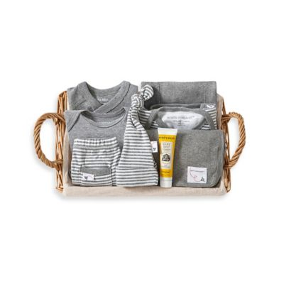 Burt's Bees Baby® Size 0-3M 9-Piece Take Me Home Gift Basket in Grey