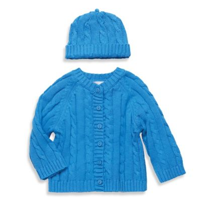 Elegant Baby® Size 6M 2-Piece Cable Sweater Gift Set in Blueberry
