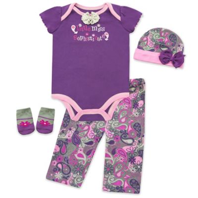 "AD Sutton Baby Essentials ""Little Miss Sophisticate"" Layette Set"