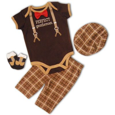 "AD Sutton Baby Essentials 4-Piece ""Perfect Gentleman"" Layette Set"