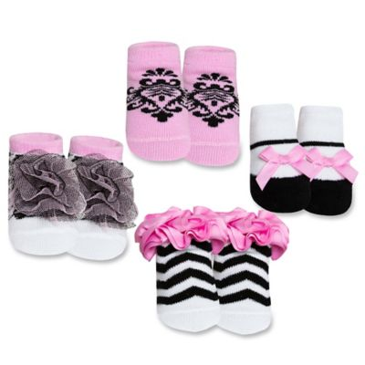 AD Sutton Baby Essentials 4-Pair Fancy Sock Set